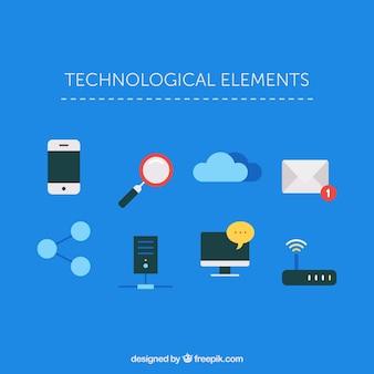 Techno éléments du logo d'accueil