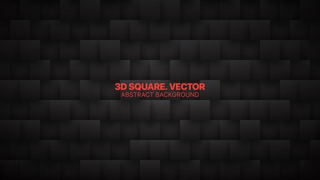 Technologie 3d squares résumé fond noir minimaliste