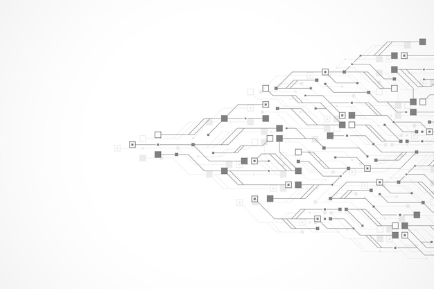 Technologie abstrait circuit imprimé texture fond hightech futuriste circuit imprimé bannière fond d'écran...