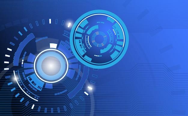 Technologie abstrait avec motif cercle et ligne