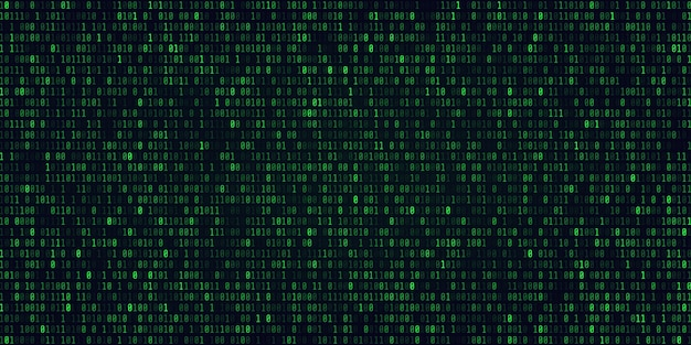 Technologie abstraite code binaire background.digital binary data et secure data concept