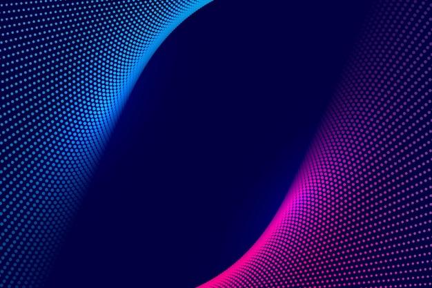 Technologie abstraite colorée en pointillés vague