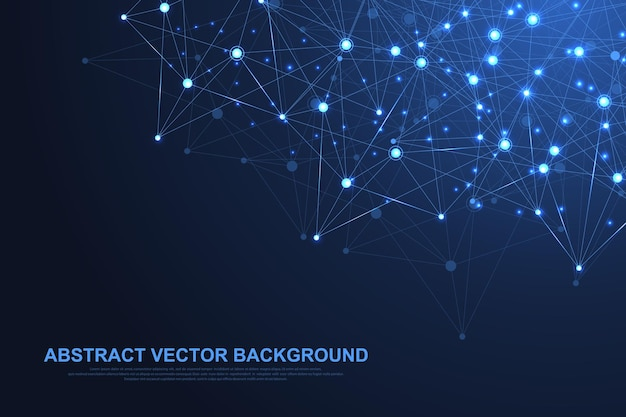 Technologie abstraite de concept de connexion réseau.