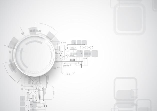 Technologie abstraite du circuit gris