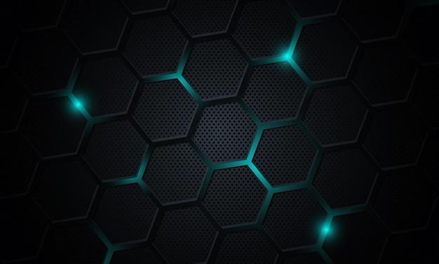 Technologie abstraite avec fond hexagonal.