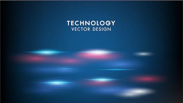Technologie abstraite fond ondes géométriques et communication avec points de connexion