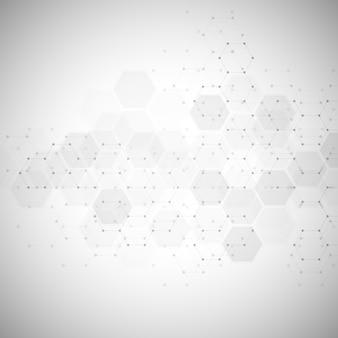 Technologie abstraite ou formation médicale avec motif de forme hexagones. concepts et idées pour la technologie de la santé, la médecine de l'innovation, la santé, la science et la recherche.