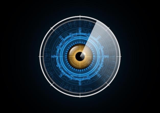 Technologie abstraite futur oeil radar sécurité cercle fond illustration vectorielle