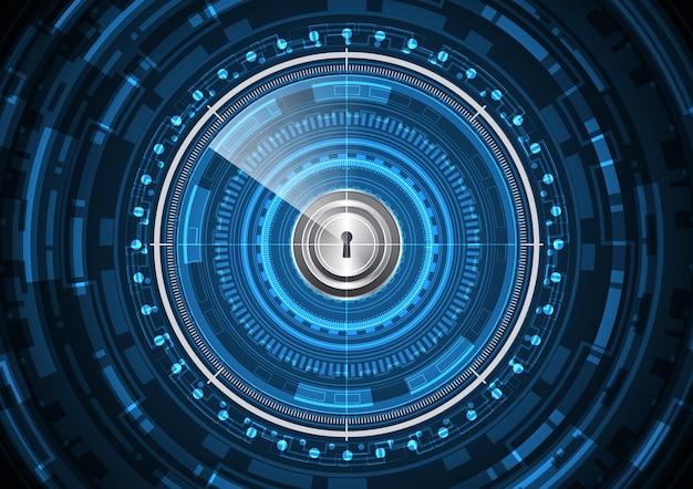 Technologie abstraite future serrure radar cercle fond illustration vectorielle