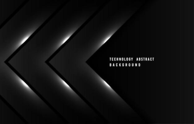 Technologie abstraite d'oeuvre décorative design noir