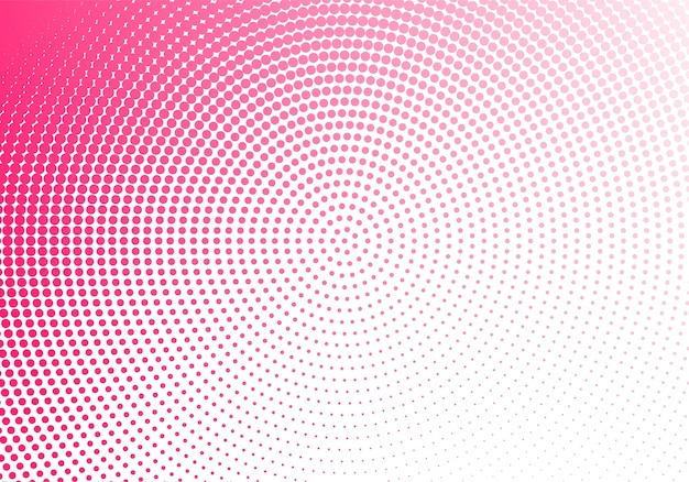 Technologie abstraite en pointillé circulaire rose