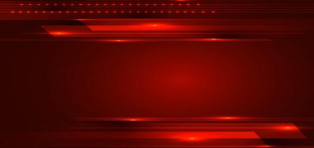 Technologie abstraite rayures lignes fond rouge