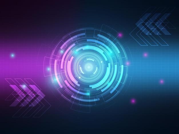 Technologie abstraite salut technologie transfert de données illustration de fond de communication