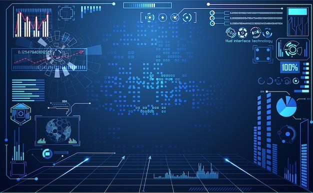 Technologie abstraite ui futuriste
