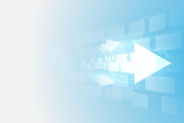 Technologie abstraite de la vitesse numérique future