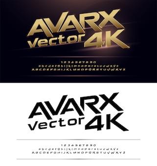 Technologie alphabet or métallique et effets