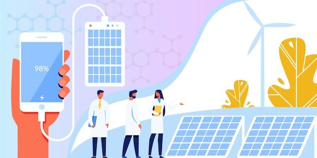 Technologie alternative écologique de panneaux solaires.