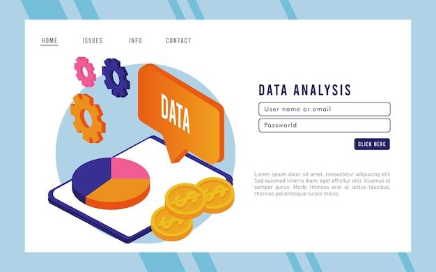 Technologie d'analyse de données avec tablette et tarte des statistiques.