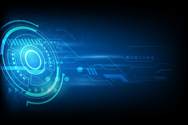 Technologie d'automatisation abstrait futuriste