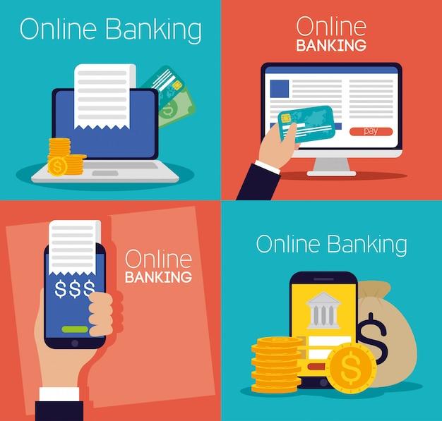 Technologie bancaire en ligne avec des appareils électroniques