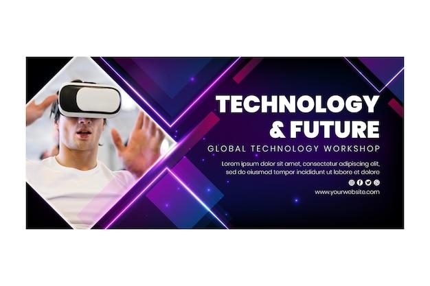 Technologie et bannière du futur