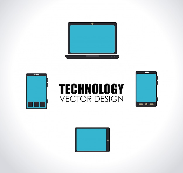 Technologie sur blanc