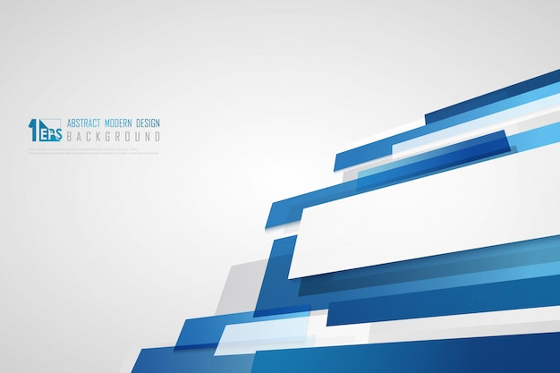 Technologie bleue abstraite du modèle léger se chevauchent avec l'arrière-plan de conception de paillettes.