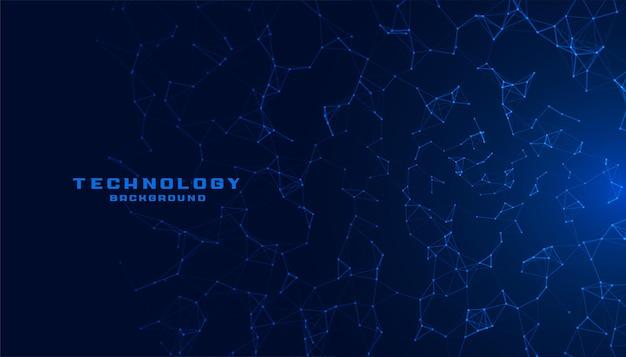 Technologie bleue avec des lignes de maillage réseau