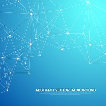 Technologie de blockchain de fond abstrait futuriste. concept d'entreprise de réseau d'égal à égal.