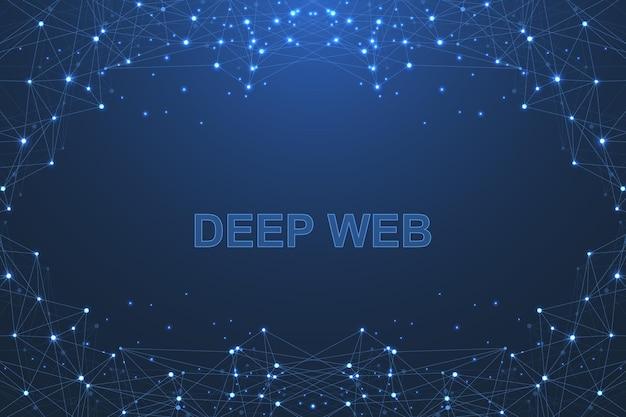 Technologie de blockchain de fond abstrait vector futuriste.