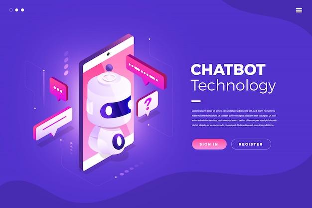 Technologie de chatbot isométrique
