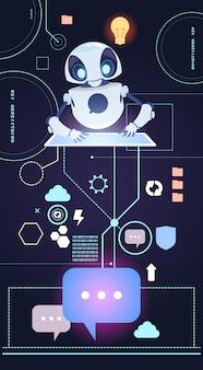 Technologie chatbot robot, chatter bot répondez aux questions