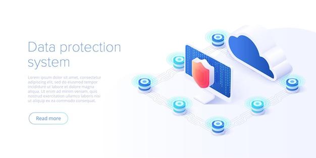 Technologie cloud et concept de réseau
