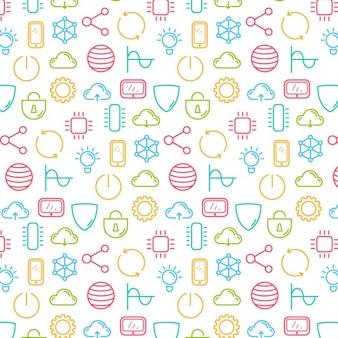 Technologie colorful motif