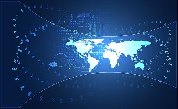 Technologie de communication big data abstraite
