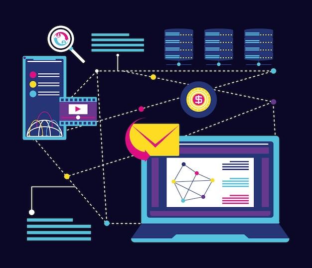 Technologie et connexion réseau