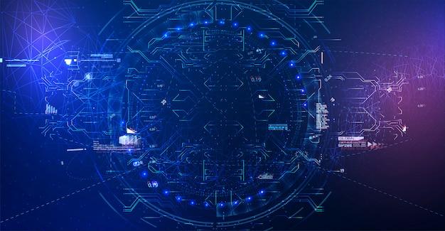 Technologie de connexion de science réseau abstraite moderne