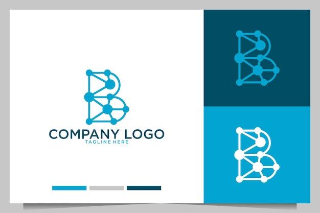 Technologie avec création de logo lettre b
