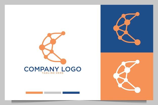 Technologie avec création de logo lettre c