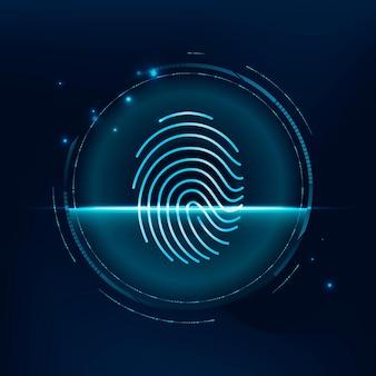 Technologie de cybersécurité vectorielle à balayage biométrique d'empreintes digitales