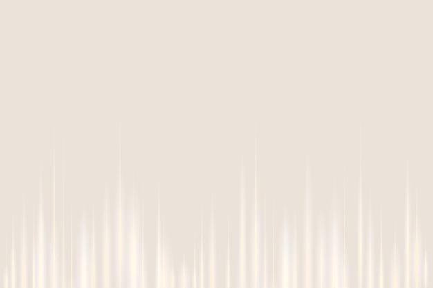 Technologie de divertissement de fond numérique beige onde sonore