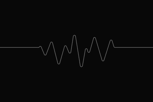 Technologie de divertissement de fond numérique noir d'onde sonore