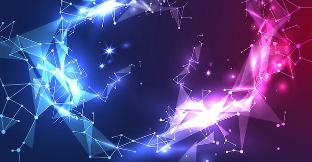 Technologie du concept de design abstrait et science des réseaux