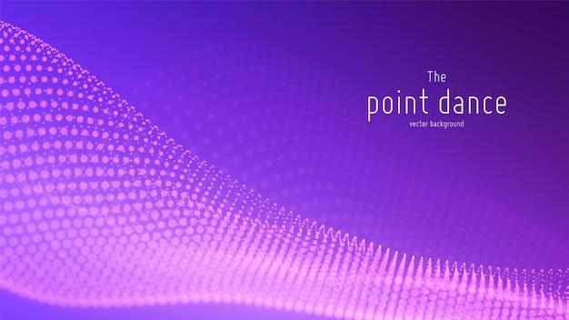 Technologie éclaboussure numérique ou explosion de fond de points de données. forme d'onde de danse ponctuelle. cyber ui, élément hud.