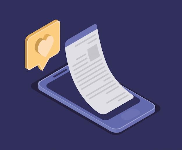 Technologie d'éducation en ligne avec smartphone
