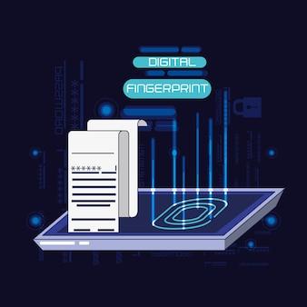 Technologie d'empreinte digitale de sécurité des données