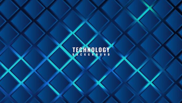 Technologie d'entreprise abstraite motif carré bleu