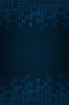 Technologie de fond abstrait dans le concept du numérique.