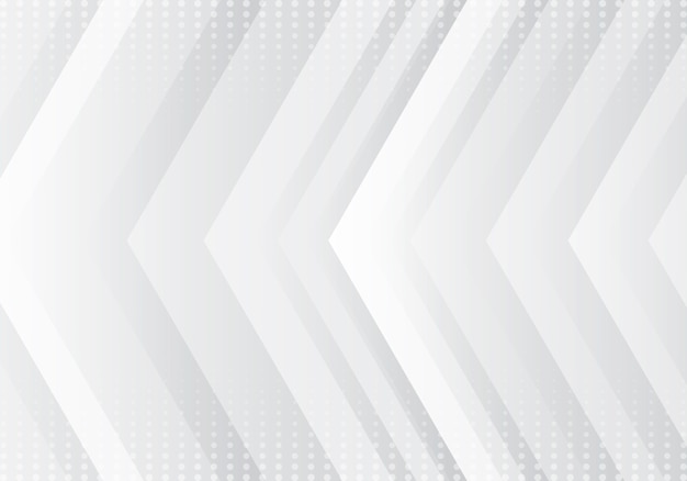 Technologie de fond des flèches grises et blanches abstraites