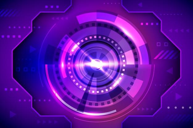 Technologie et fond futuriste
